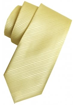 Boys yellow tie in striped fabric