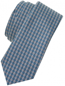 Upto 14 Years Boys Tie in Blue And Grey Diamonds