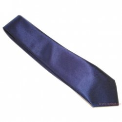 Boy navy tie in shiny satin fabric 5 to 14 Years