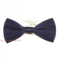 Boys Navy Bow Tie 6m To 12yrs