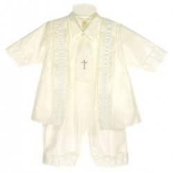 Christening Outfits for Boys Ivory Christening Romper Suit