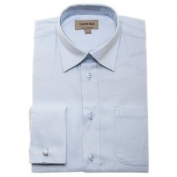 Boys Blue Shirt With Double Cuff And Cufflinks