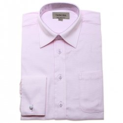 Boys Cufflinks Shirt In Pink With Double Cuff And Cufflinks