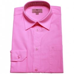 Boys formal dress shirt in light fuchsia