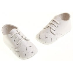 Baby boys white shoes in soft leather