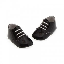 Cuquito baby boys summer shoes in dark navy patent