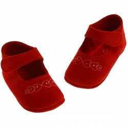 SALE Baby Girls Red Pram Shoes