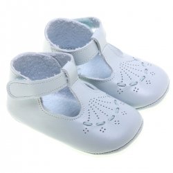 Baby Boys Blue Leather Shoes