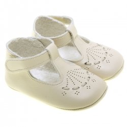 Baby Boys Ivory Leather Shoes