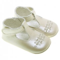 Baby Pearl Ivory Leather Shoes