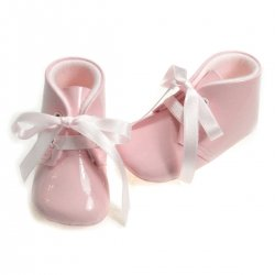 Baby girls pink patent  shoes