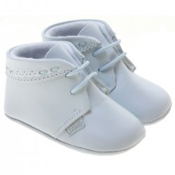 Baby Boys Blue Shoes In Soft Leather By Cuquito Shoes