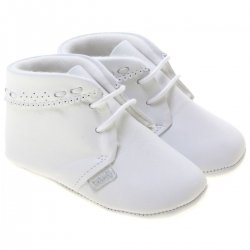 Baby Boys White Shoes By Spanish Cuquito