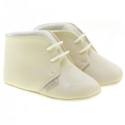Baby Boys Ivory Shoes Made in Spanish