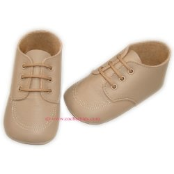 SALE Cuquito Traditional baby boys shoes in camel brown