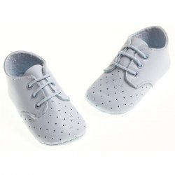 Baby boys blue shoes in soft leather
