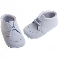 Cuquito Baby boys blue leather shoes