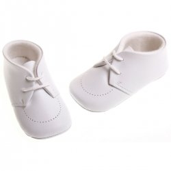 Baby boys white leather Cuquito shoes