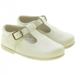 Ivory T Bar Shoes in Matt Leather