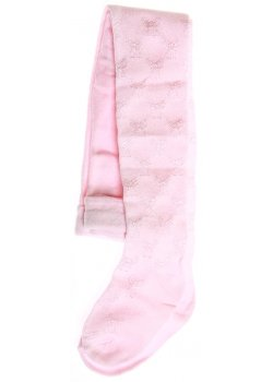 Angel pattern decorated baby girls tights in pink