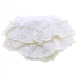 Anglaise Lace Blossom Flowers Baby Girls Frilly Knickers