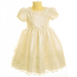Sale Chloe ivory christening dress with bonnet