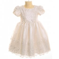 Sale Chloe white christening dress with bonnet