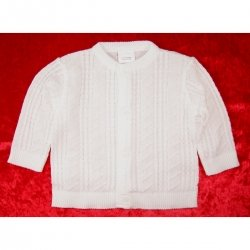 Baby boys cardigan in white