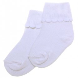 Sugar 2 Pairs Baby Girls And Boys White Socks