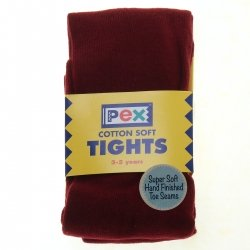 Burgundy Colour Plain Tights from PEX