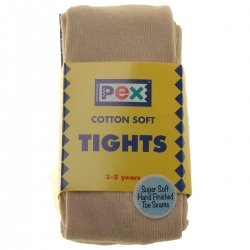 Tan Or Light Caramel Colour Plain Tights from PEX