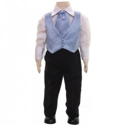 Christening or Wedding Boys Blue Waistcoat Set