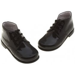 Boys Black Patent Shoes In Black Patent Leather