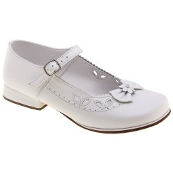 SALE Pretty Originals Girls White Shoes For Communion And Special Occasions