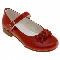 SALE Girls Red Shoes Mary Jane Style Patent Leather