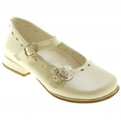 SALE Baby Girls Mary Jane Pearl Ivory Shoes