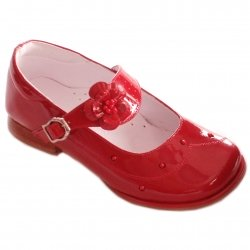 SALE Girls red patent shoes Mary Janes style