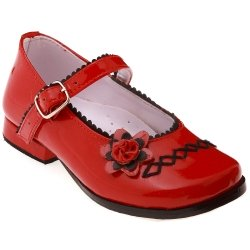 SALE Traditional Mary Janes girls red patent shoes