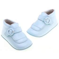 Pretty Originals Baby Boys Blue Christening Shoes