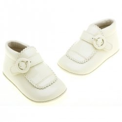 Pretty Originals Baby Boys Ivory Christening Shoes