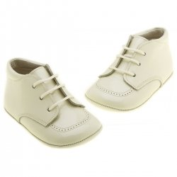 Baby Boys Ivory Shoes with Shoe Laces