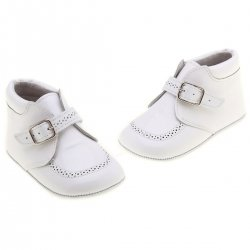 Hand made Baby Boys White Shoes