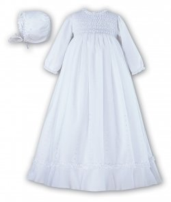 Sarah Louise Baby Girls White Robe