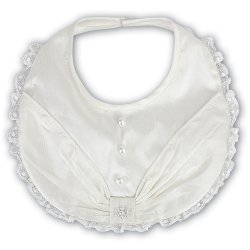 Luxury Silk Bib For Baby Girls Christening
