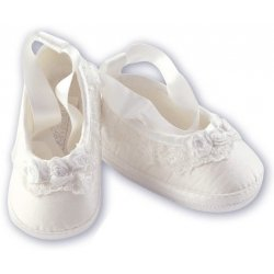 Christening Shoes For Baby Girl White By Sarah Louise