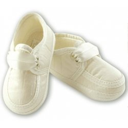 Boys Christening Shoes in ivory cream by Sarah Louise