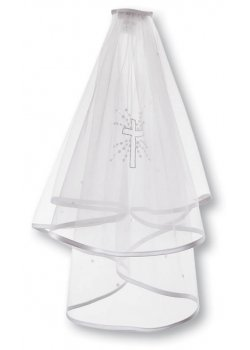First Holy Communion Veil with a Cross