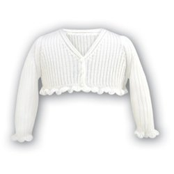 Sarah Louise 699 cardigan white or ivory