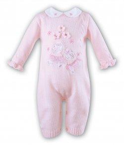 8425db9e2d84 Sarah Louise Baby Girls Pink Romper