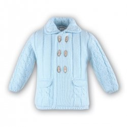 Sarah Louise Boys Knitted Blue Jacket